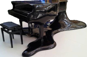 Actual piano after the show.